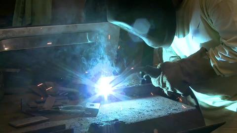 welder side shot Footage