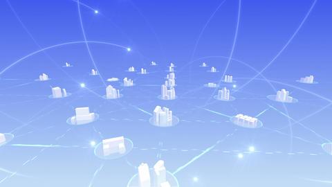 Network City 5 Da 3 HD Stock Video Footage