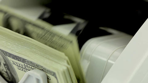 Banknote counter Stock Video Footage