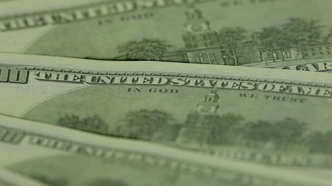 Independence Hall. One Hundred Dollar Bills stock footage