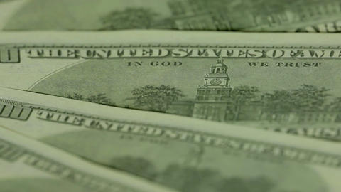 Independence hall. One hundred dollar bills Stock Video Footage
