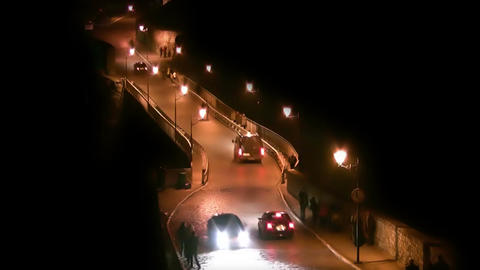 Old bridge at night Stock Video Footage