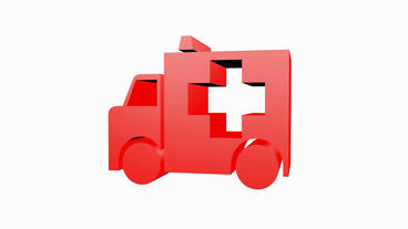 Rotation Of 3D Ambulance.emergency,medical,help,rescue,urgent,vehicle,hospital,health stock footage