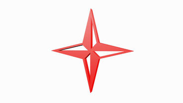 Rotation Of 3D Star.symbol,shape,sign,decoration,art,style,design,icon,isolated stock footage