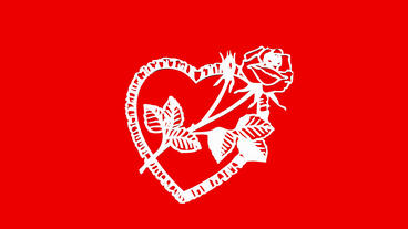 Rotation of Flower rose heart.love,red,symbol,heart,valentine,romance,illustrati Animation