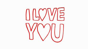 Rotation of i love you logo.valentine,card,passion,text,romantic,symbol,Valentin Animation