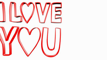Rotation of i love you... Stock Video Footage