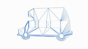 Rotation of rv car.vehicle,rv,travel,trip,road,vacation,recreation,transportatio Animation