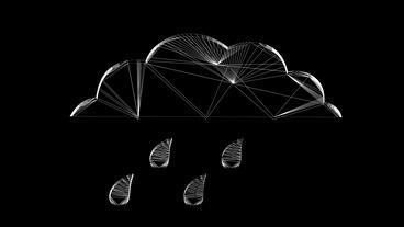 Rotation of 3D Rain... Stock Video Footage