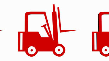 Rotation Of 3D Forklift.truck,vehicle,lift,storage,transportation,warehouse,cargo,freight stock footage