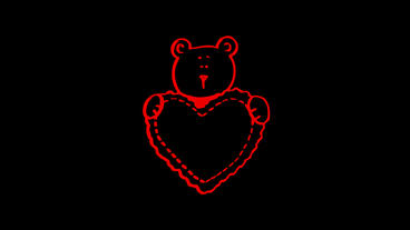 Rotation of 3d bear with heart.wildlife,wild,mammal,fur,nature,warming,global,an Animation