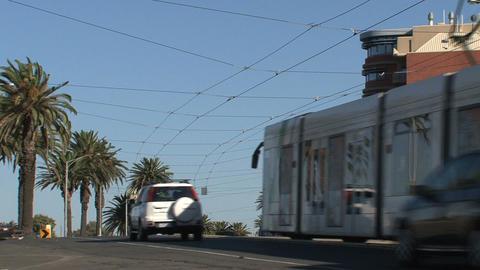 Tram leaving Stock Video Footage