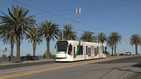 Tram passing by Stock Video Footage