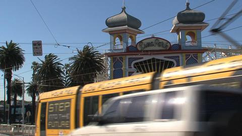 Luna Park, St Kilda's iconic amusement park Stock Video Footage