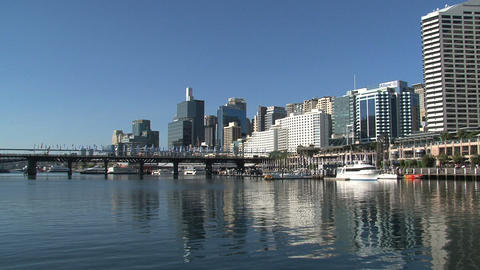 Sydney harbor front Stock Video Footage