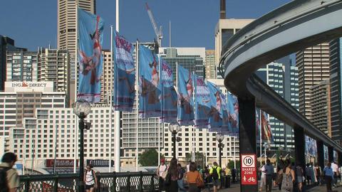 Metro Monorail downtown Sydney Stock Video Footage