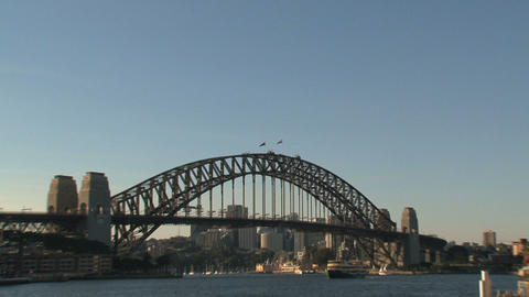 Harbour bridge slow zoom out Footage