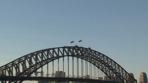 Harbour bridge zoom out Footage