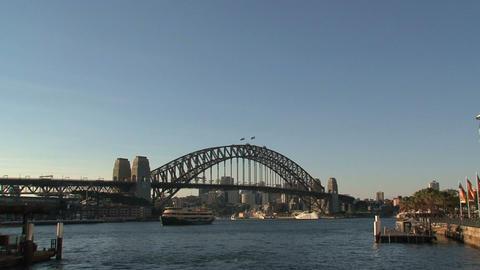 Harbour bridge zoom out Footage