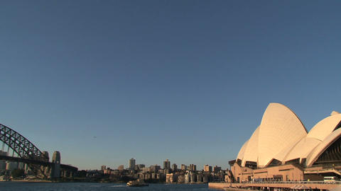 Opera house and Harbour Bridge Stock Video Footage