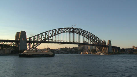 Sydney harbour bridge Stock Video Footage