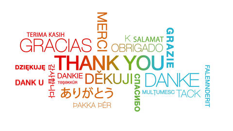 Thank you in different languages Animation