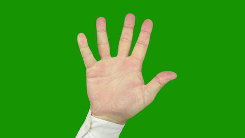 White Collar counts with fingers. Alpha channel is included Stock Video Footage