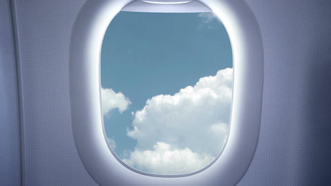 Sky and clouds from the airplane Stock Video Footage