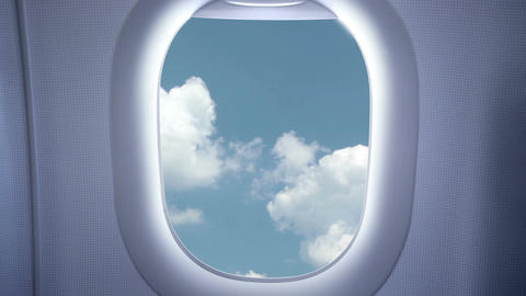 Sky And Clouds From The Airplane stock footage