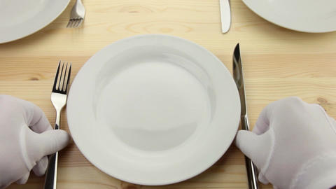 Tableware stock footage