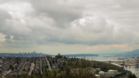 Cloudy afternoon of downtown Vancouver Stock Video Footage