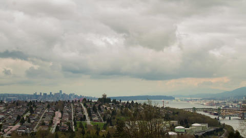 Cloudy afternoon of downtown Vancouver Footage
