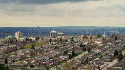 Cloudy day over residential area in Burnaby, BC Live Action