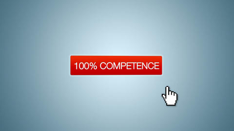 100 percent Quality, Service Competence Animation Stock Video Footage