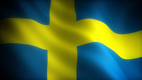 Flag of Sweden Stock Video Footage