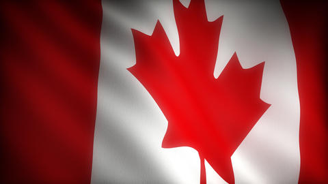 Flag of Canada Stock Video Footage