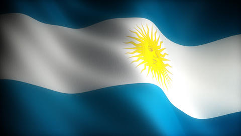 Flag of Argentina Stock Video Footage