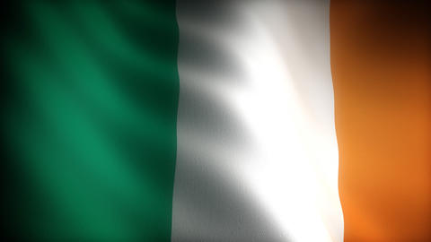 Flag of Ireland Stock Video Footage