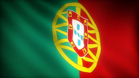 Flag of Portugal Stock Video Footage
