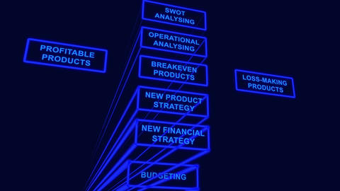 Stages of product strategy Stock Video Footage