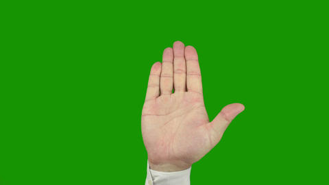 Hand sign STOP. Alpha channel is included Stock Video Footage
