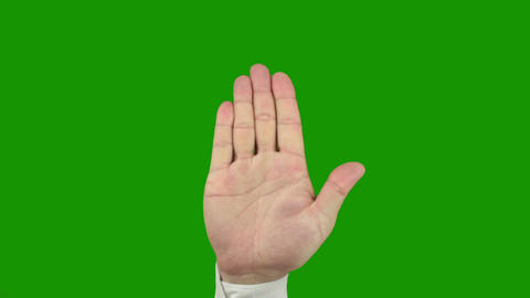 Hand sign STOP. Alpha channel is included Footage