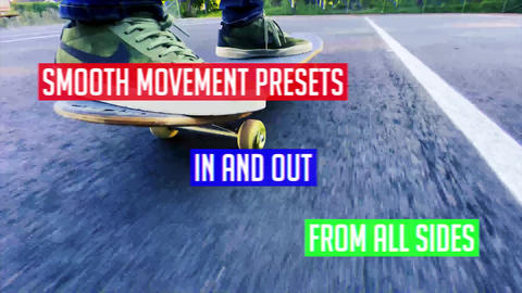 Smooth movement presets with Chromatic Aberration