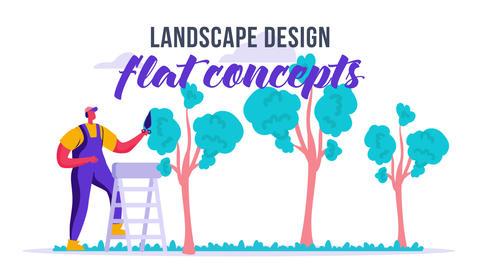 Landscape design - Flat Concept