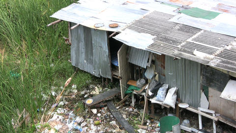 Home In The Slums Stock Video Footage