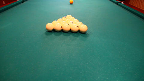 Billiard stock footage