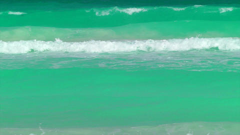 Waves Rolling in on a Tropical Beach Stock Video Footage