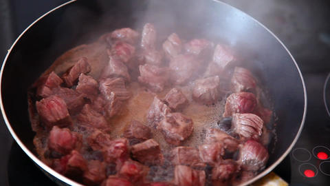 Fried meat Stock Video Footage