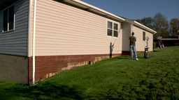 Power Washing Home Stock Video Footage