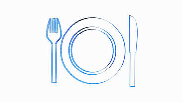 Rotation of 3D Tableware.dishware,kitchen,fork,knife,flatware,spoon,metal,dinner Animation